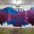 Pintura em sala de aula do Projeto Volta à Escola. Crédito: Ana Terra Curado da Rocha